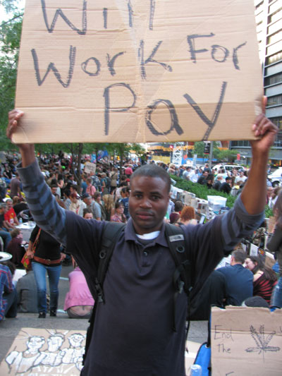 Michael Smith, a machine operator, sees Occupy Wall Street as a way to take control of his future. Josh Harkinson