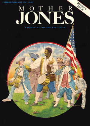 Mother Jones, February/March 1976 cover: Illustration by Dugald Stermer