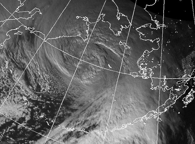 Bering Sea superstorm on 8 November 2011. : Credit: NWS, NOAA