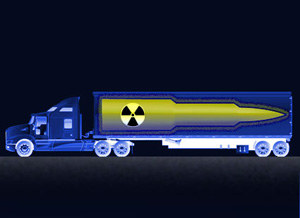 Truck: Aleksandr Volodin/istock; missile: simplesample/shutterstock