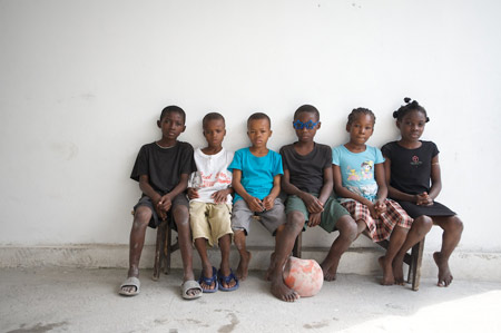 Children at the Foyer de la Patience des Enfants de Favorises orphanage in Port-au-Prince. Photos by Mark Murrmann