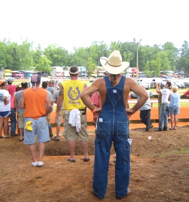 "Evolution of Species: The Neshoba County Fair is like ""one big family reunion,"" says one attendee. That's me in the blue. (Photo: Tim Murphy)"