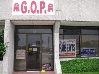 Local GOP headquarters in Galveston County.