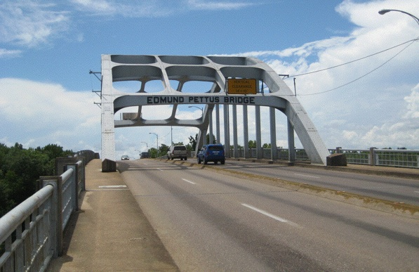 Getting there: The bridge in Selma (Photo: Tim Murphy