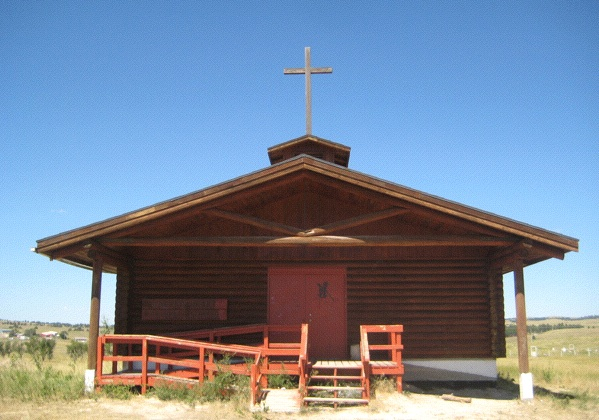 Sacred Heart Catholic Church, Wounded Knee, South Dakota (Photo: Tim Murphy)