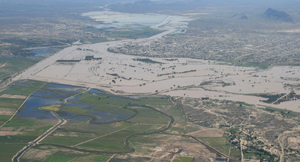 Rio Grande flooding near Presidio, Texas, in 2008.: Courtesy of the National Park Service