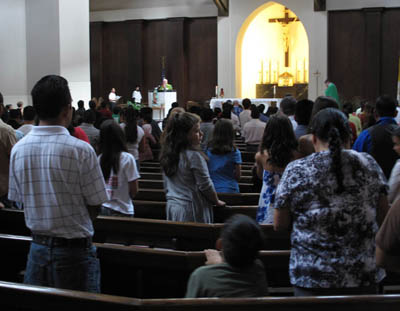 A service at Holy Spirit Catholic Church.