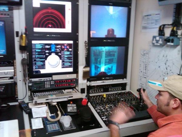 The ROV control room
