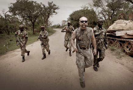 """Sam and the SPLA on patrol."": MachineGunPreacher.org"