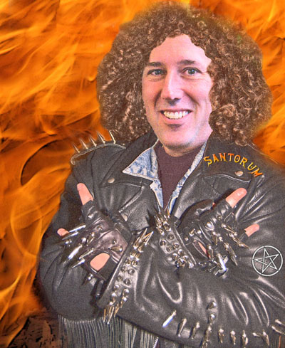 heavy metal Santorum: Photo illustration by Dave Gilson