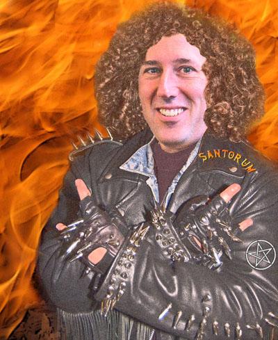 heavy metal Santorum: Photo illustration by Dave Gilson