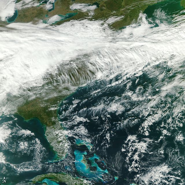 Eastern North America from the Great Lakes to Cuba: Credit: NASA/NPP Team at the Space Science and Engineering Center, University of Wisconsin–Madison.