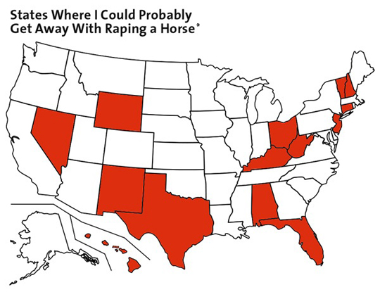 Map Of The Day Bestiality Friendly States Mother Jones