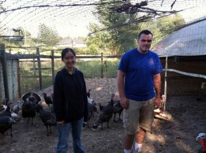 Janelle, 16, and Zach, 20, are two of the Thode family turkey farmers.